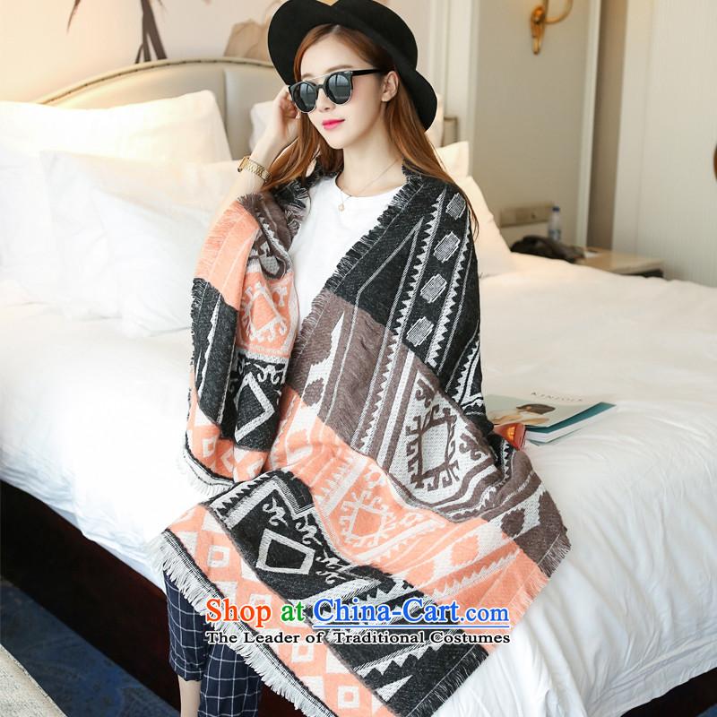 Mrs Carrie Yau, Ms. Mimi scarves knitted woolen scarves winter twist knitting shawl ethnic black