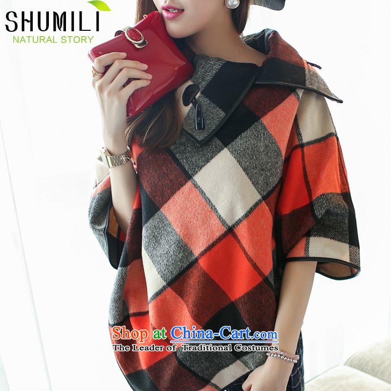 Mrs Carrie Yau, Ms. Mimi scarves knitted woolen scarves winter twist knitted cardigans cloak red grille