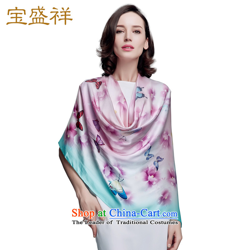 Eric blossom in the autumn of 2015, the new Silk and classy Ms. towel herbs extract butterfly stamp silk shawls red