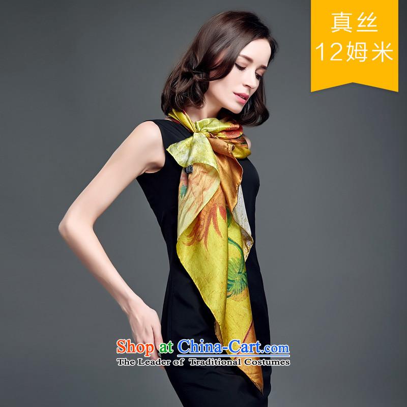 Eric blossom 2015 Ms. New Silk shawl sauna silk satin turban shawl scarfs9306, sunflower blossom Cheung shopping on the Internet has been pressed.