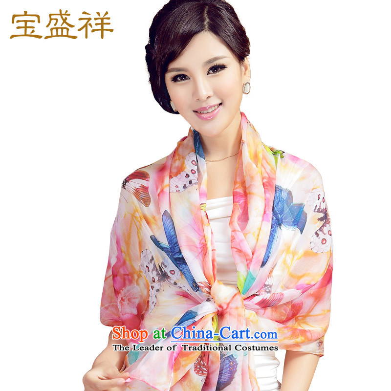 Eric blossom herbs extract long digital printing silk scarf elegant woman's wild fancy scarf colorfully butterfly