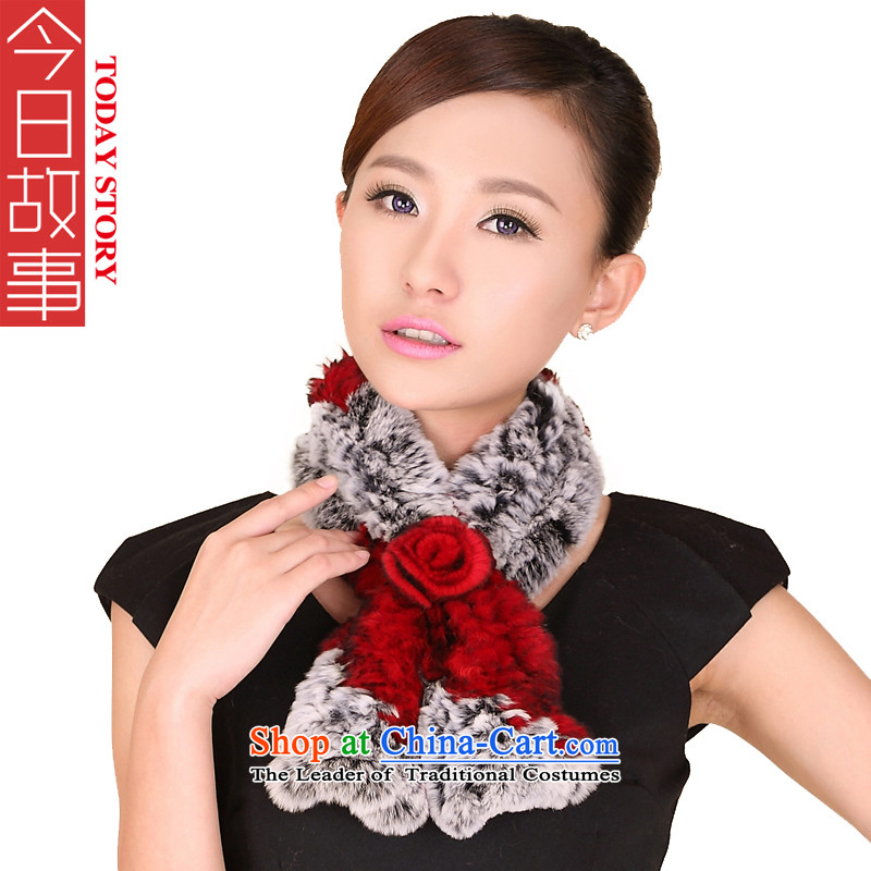 Today the new 2015 story of autumn and winter, Korean Alice elegant process and woolen cravat wild warm and stylish modern 178063 a pretty red and gray