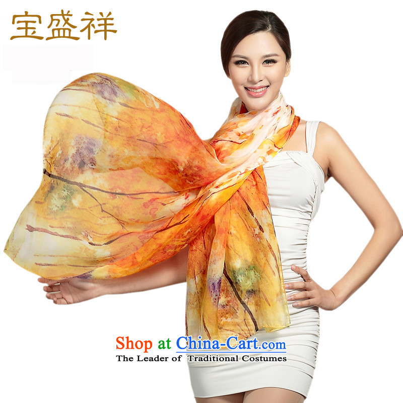 Eric blossom herbs extract chiffon silk scarfs long digital printing, Fancy Scarf silk scarf autumn impression