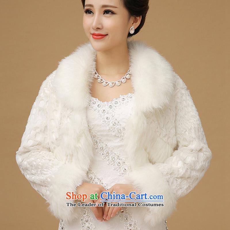 Wedding dress shawl qipao marriage small winter coats bridesmaid gross shawl White
