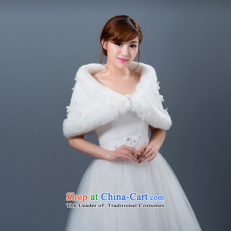 New wedding dresses shawl winter marriages shawl bridesmaid gross shawl thick Warm White White