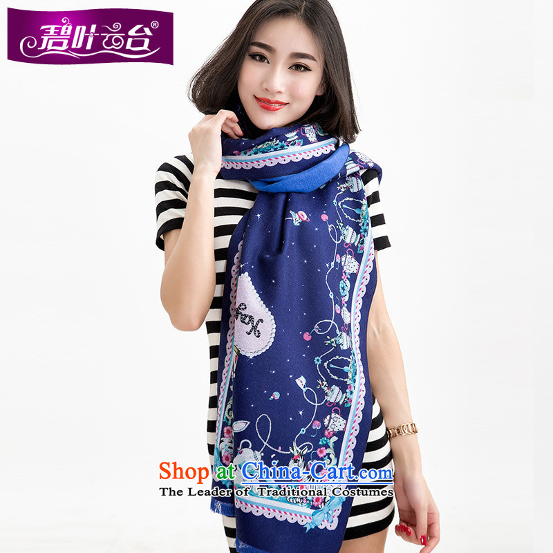 Mr Pik PTZ 2015 new stylish winter cashmere soft and fresh flower stamp scarves color zebra two shawls with female002