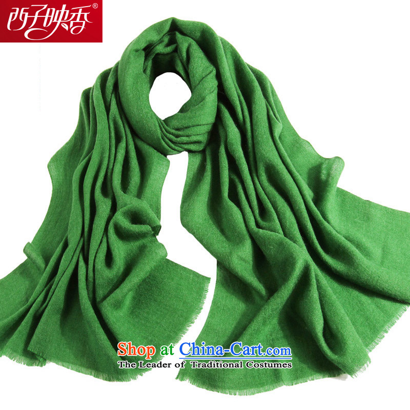 Hsitzu Hong autumn and winter Ms. new wooler scarf thick warm monochrome a shawl two green