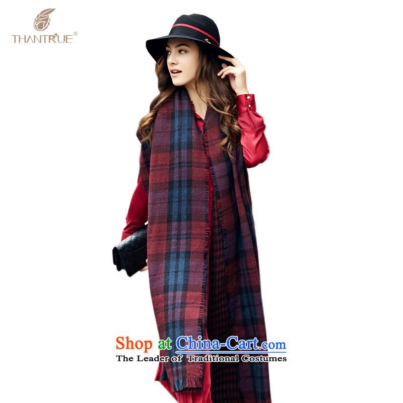 Enjoy a women really thantrue stylish woven fabric, scarf autumn and winter warm longer plus large shawl W020 chestnut horses plaid