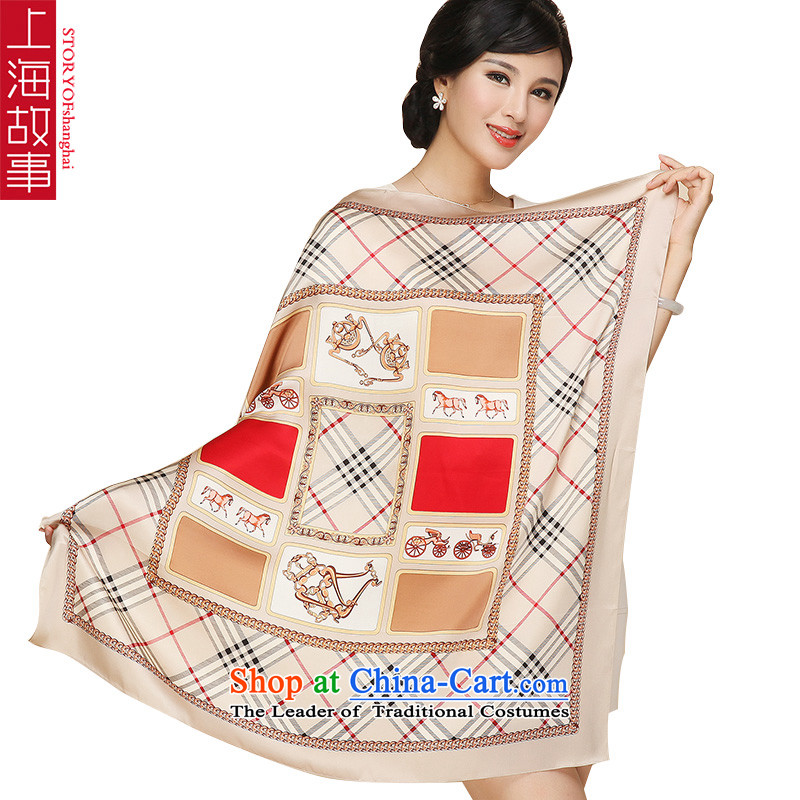 Shanghai Story silk scarf satin female and classy silk scarvesU10