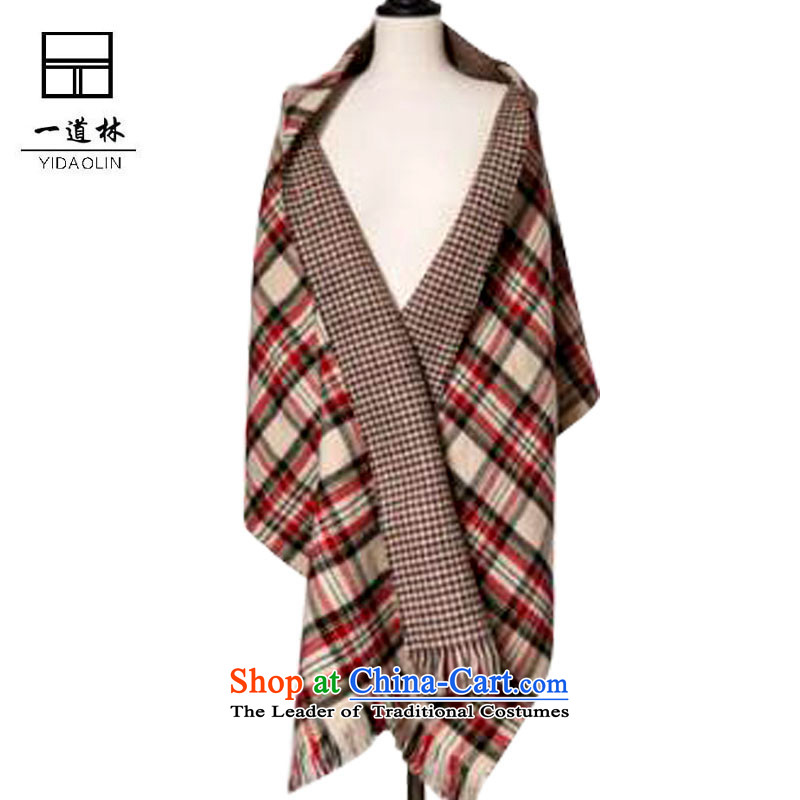 A forest new two-sided England scarf double Chidori-thick Korean latticed grand prix emulation pashmina m grid