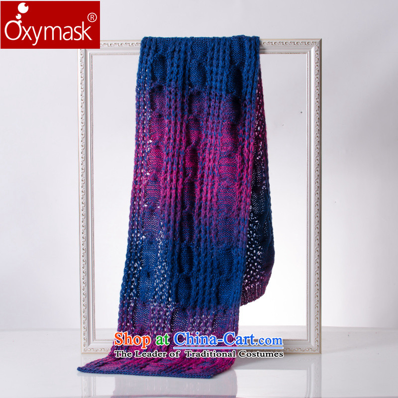 The Korean version of the gradient oxymask twist long couples scarf female warm winter thick line scarves knitted scurf students a gradient of the scarf of knitted red