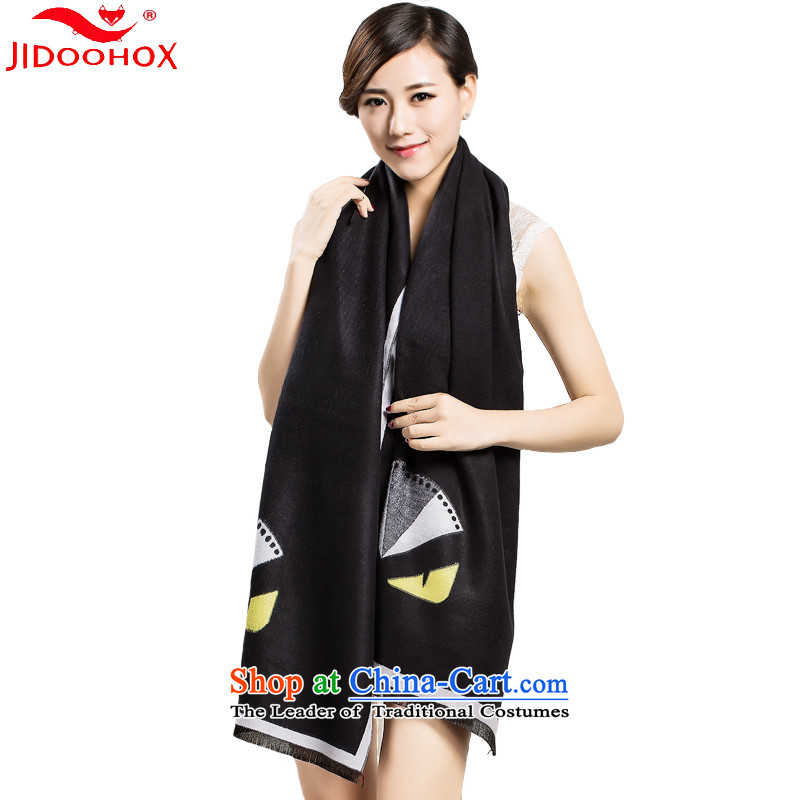 The end of the scarf female winter simulation JIDOOHOX Cashmere wool scarves, stamp shawl autumn and winter with extra large two-sided brushed a black