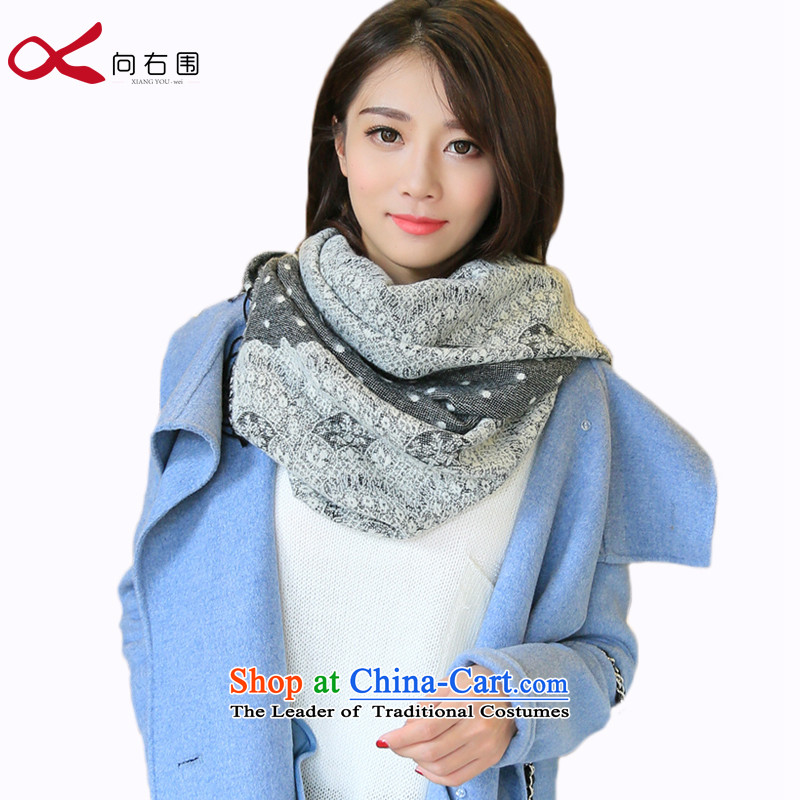 To the right of the scarf knitting, knitting women thick autumn and winter day of sweet Jacquard Lace wave point shawl gyesung snow things