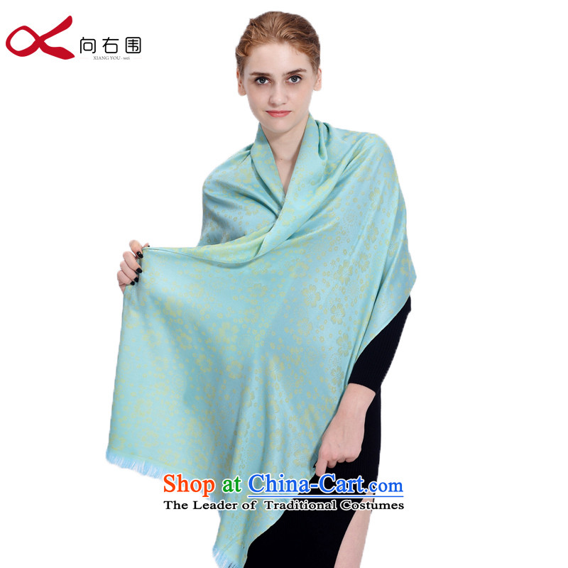 To the right of the President of the scarf spring jacquard air-conditioned shawl arts fresh floral nation shine - Green