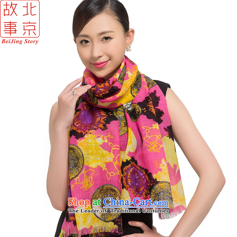 Beijing2015 new story wool stamp scarves, warm winter long shawl feel better red 178014