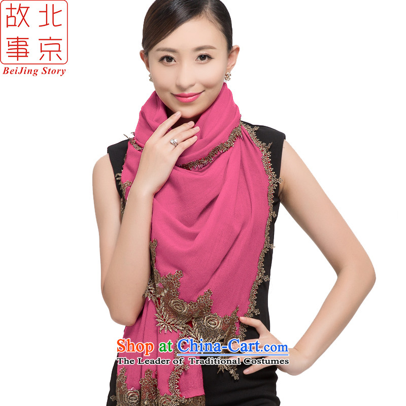 Beijing2015 New 80 stories of color woolen scarves support women warm winter shawl pure colors and elegant178020Pink