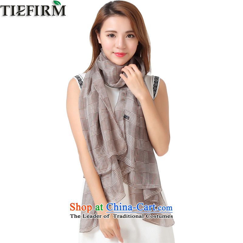 Tiefirm silk scarves, scarf herbs extract increase of color with masks in two shawls khaki