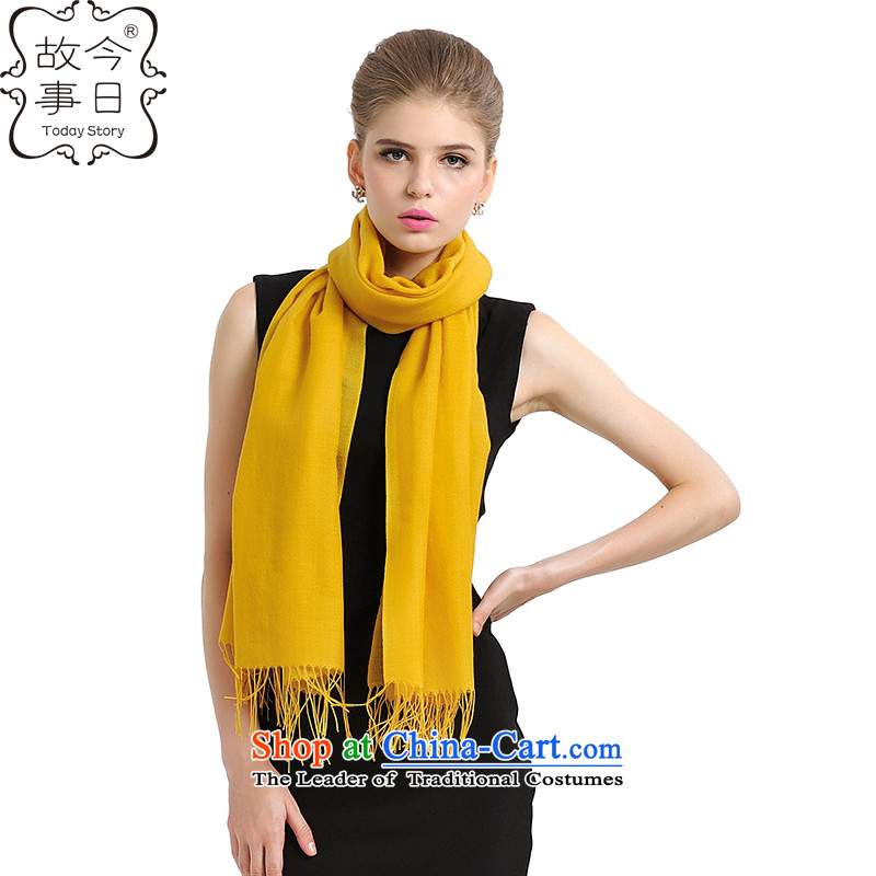 Today the story of autumn and winter 2015 new taxi Korean men and women of couples color worsted scarf warm-ups 193063 A orange