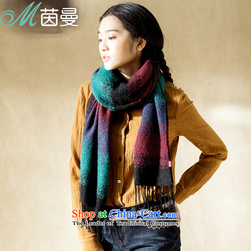 Athena Chu Cayman autumn and winter scarf female winter stitching gradient warm arts wild gift (8531400595 scarves, mixed-color as soon as possible.