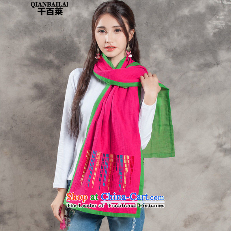 2015 Autumn and Winter, hundreds of new women's ethnic embroidery knocked Color Flow Su Fancy Scarf by 8510 with two red are code