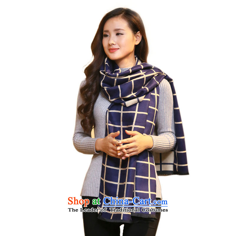 Hundreds of new energy 2015 England wind of autumn and winter emulation pashmina shawl two very large with women a thick warm wjm08 Po blue patterned