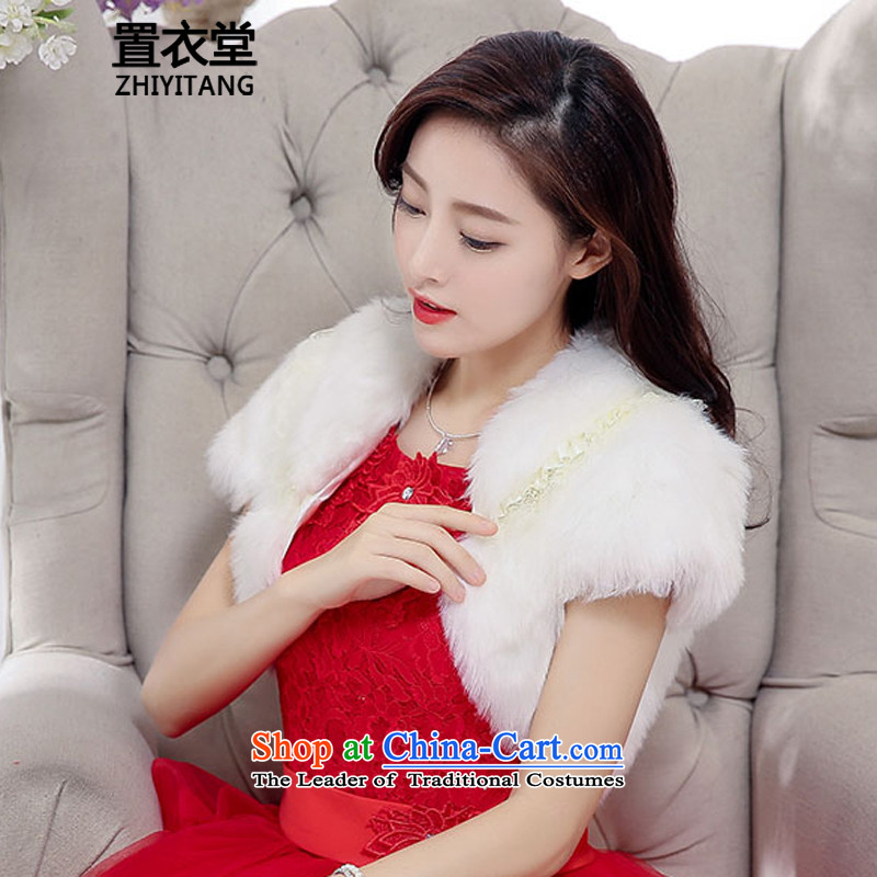 The Korean version of the wool coat small shawl sweet lady short-sleeved white frock coat small wild gift wedding black meat lapel shawl 2015 autumn and winter new white are code
