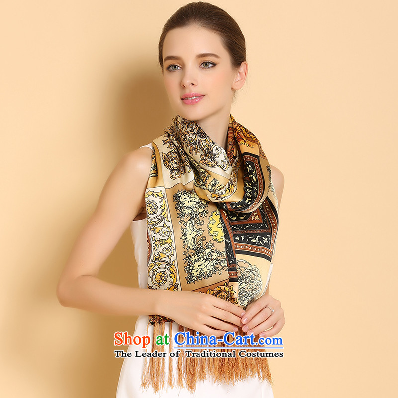 Fallay Shoka silk scarves autumn and winter upscale herbs extract long towel, Duplex Long, two with gold colored neckerchief shawl