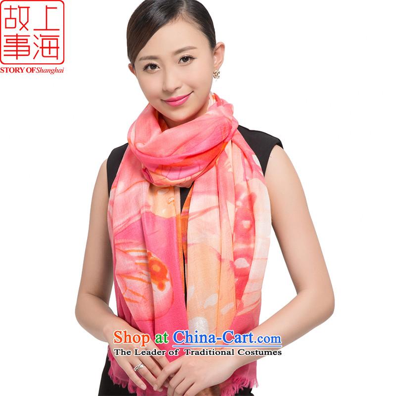Shanghai Story2015 200 new pashmina women winter long a warm shawl Bunny 187027 Butterfly Pink