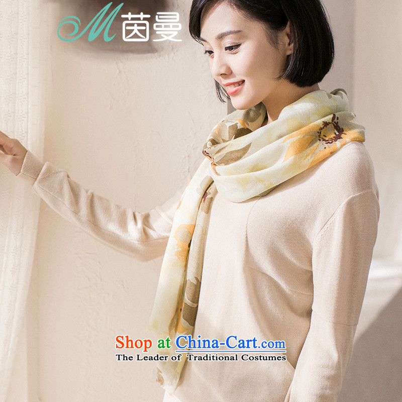Athena Chu Cayman 2015 shawl scarf new arts stamp spring and autumn scarf girl _853140186- yellow