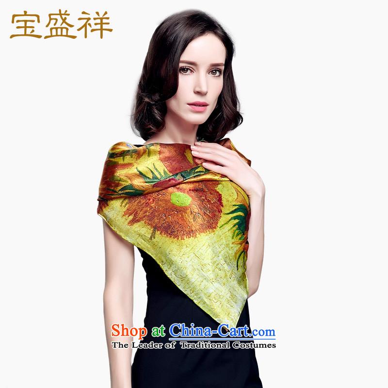 Eric blossom 2015 Ms. New Silk shawl sauna silk satin turban shawl scarfs9306 sunflower
