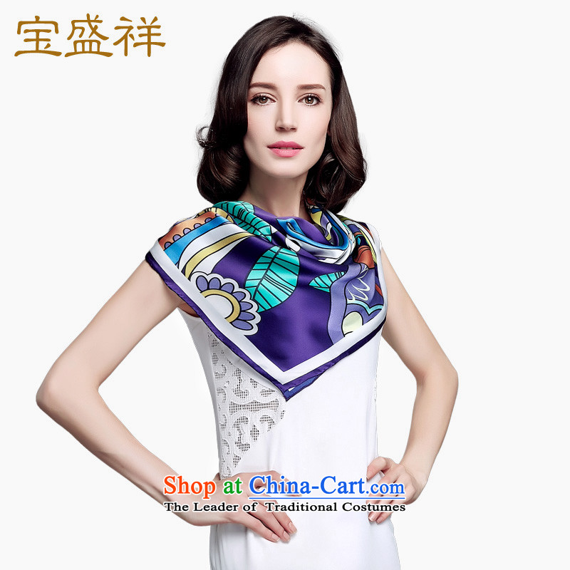 Ms. Cheung blossom new herbs extract silk scarf silk scarf shawl stamp a shawl purple flowers