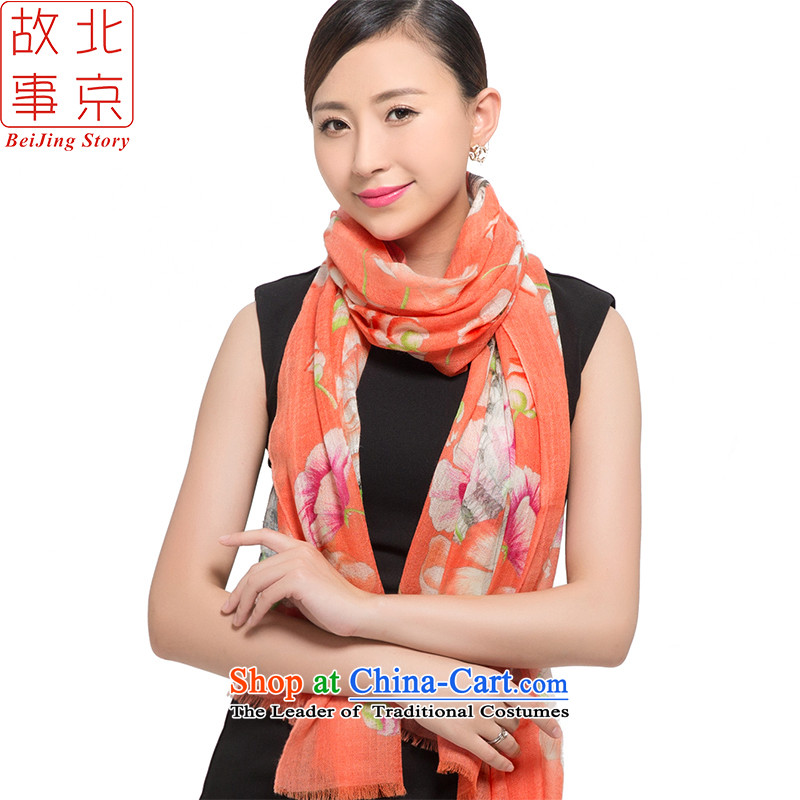 Beijing 2015 new 200 stories support pashmina women winter long a warm shawl live 178024 orange