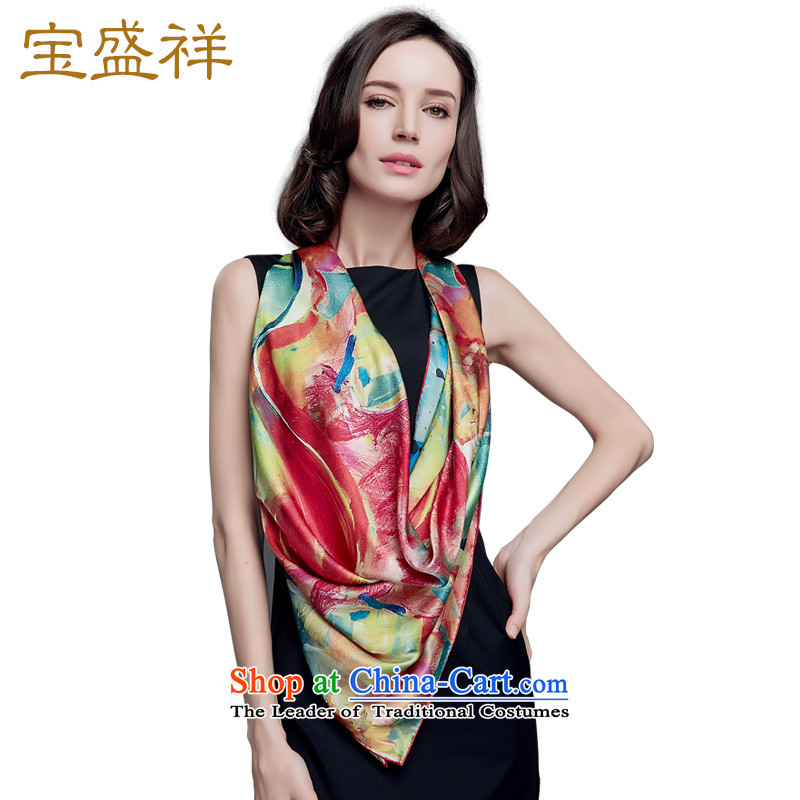 Eric blossom 2015 Ms. new satin and classy towel herbs extract silk extension silk scarf shawls9220 female