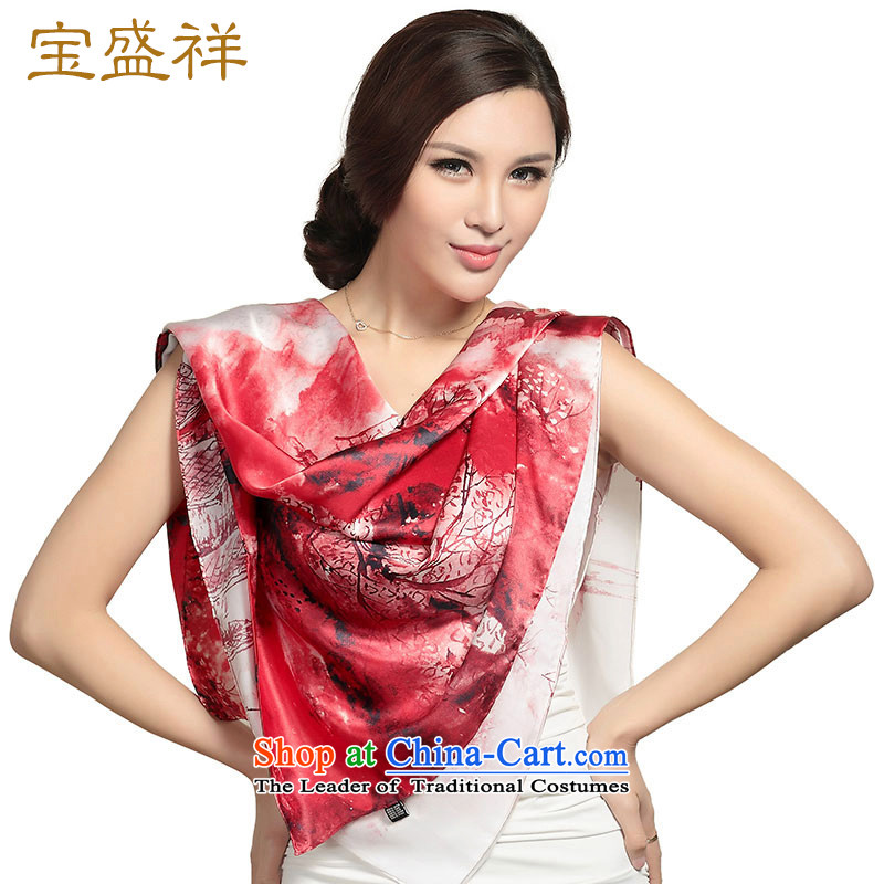 Eric blossom silk scarf herbs extract satin, classy and Ms. towel stamp shawl shawl silk scarf sunscreen redder s9207 stamp