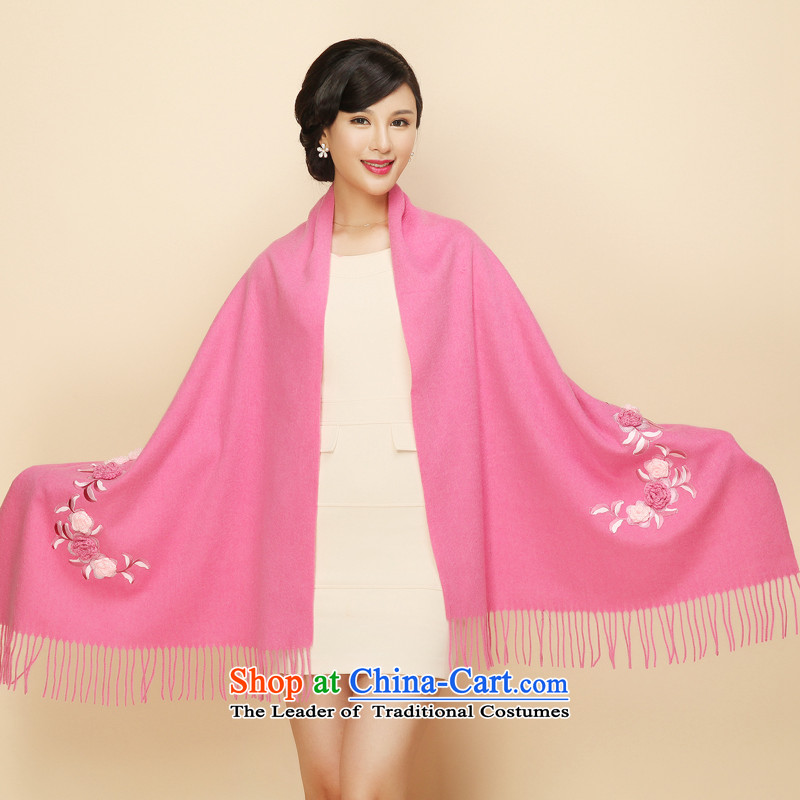 The estimated 2015 autumn and winter Gigi Lai new woolen shawl embroidered with warm ethnic jacquard pashmina, multifunction thick a gift of the elderly in the embroidery red