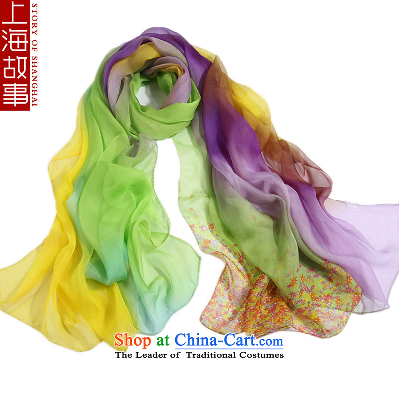 Shanghai Story long silk scarves autumn and winter warm Ms. herbs extract wild shawl 7 Violet