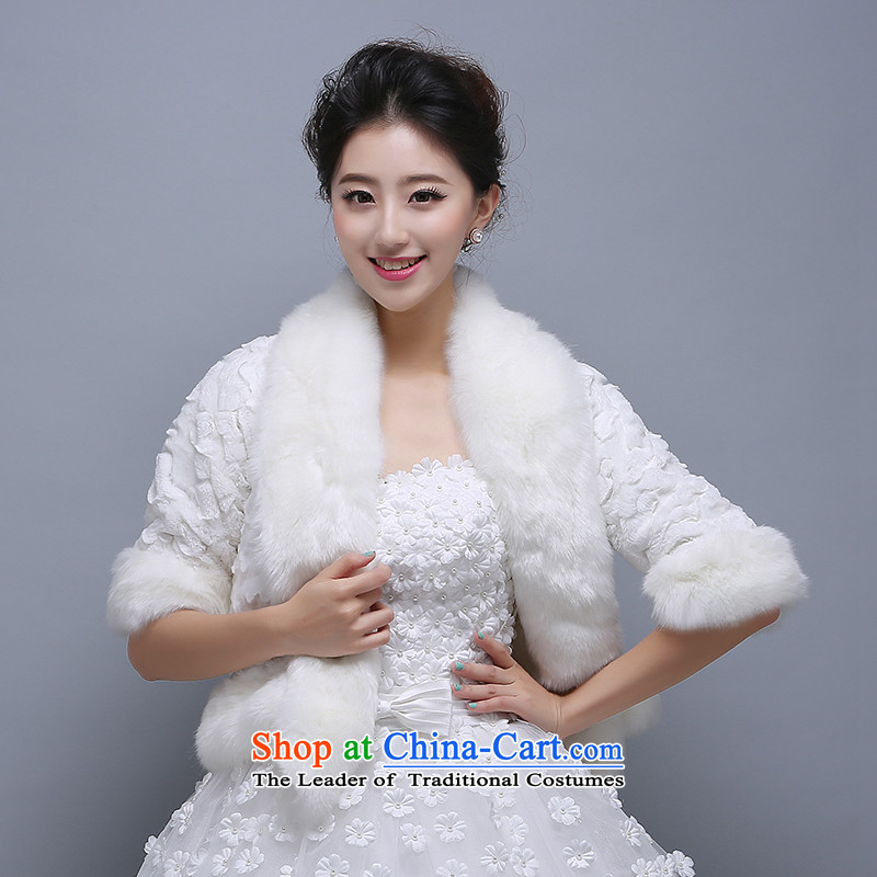 The new high gross shawl long grass gross shawl brides fur bridesmaid warm shawl Wild Hair shawl