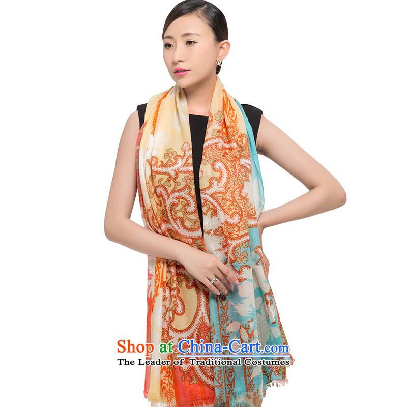 Shanghai Story2015 200 new pashmina women winter long a warm shawl Bunny 187027 totem yellow