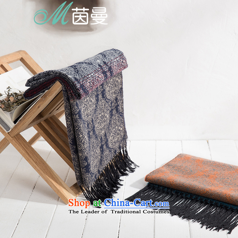 Athena Chu Cayman聽2015 autumn and winter new arts gradient jacquard shawl women and two electoral 853140179 scarves with blue as soon as possible.