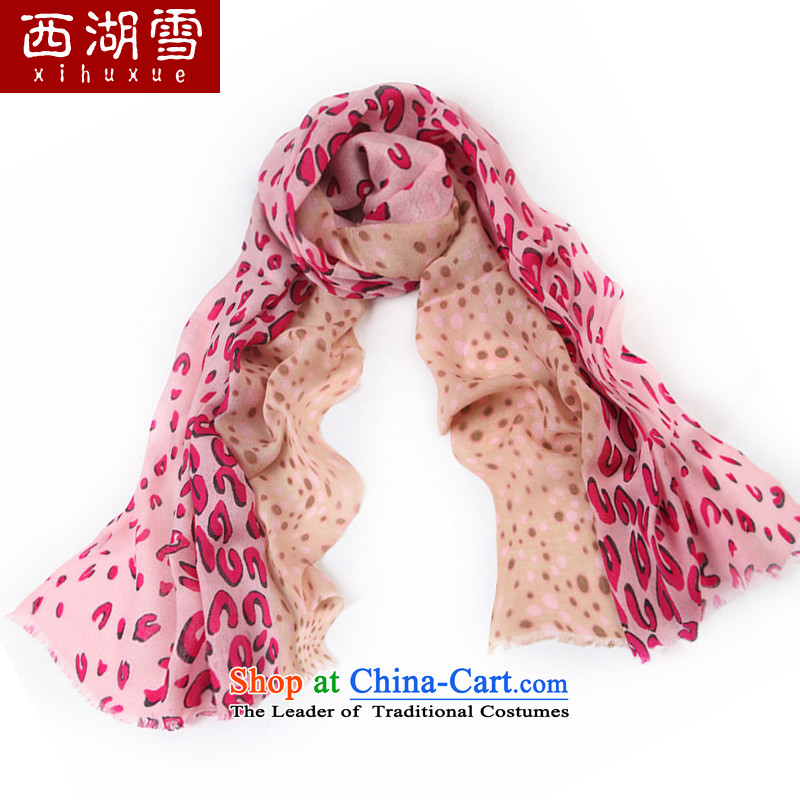 The Hsihu Snow Ms. wooler scarf autumn and winter warm longer a shawl leopard point red