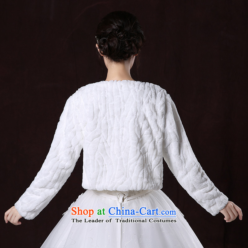 2015 new marriages autumn and winter wedding dress shawl thick long-sleeved large warm white jacket, gross shawl embroidered brides is , , , shopping on the Internet