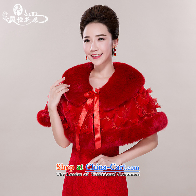 Noritsune bride wedding accessories sleeveless gross shawl 2015 New Red Shawl marriage dedicated accessories Ms. cloak-lace flower of gross shawl red