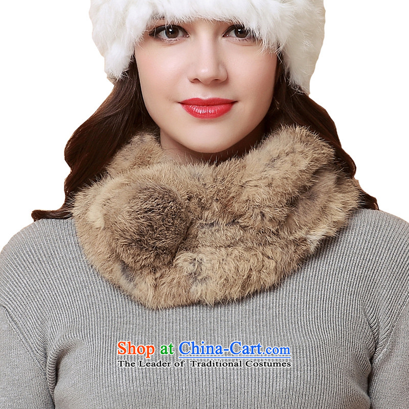 The Rabbit fur beginning of fall a winter female grass scarf nagymaros ball Korean fashion thick warm Wai for one fur winter autumn and winter a flower brown