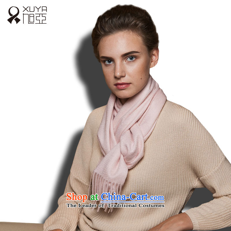 Ya ripple scarf stylish cashmere Western Wind autumn and winter warm, Female Light Pink