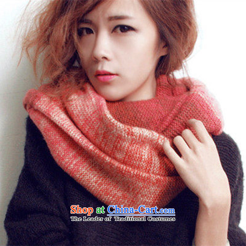2015 color knitting color mix female spell color a double band thick Korean autumn and winter Knitting scarves chokeholds thick toner chestnut horses