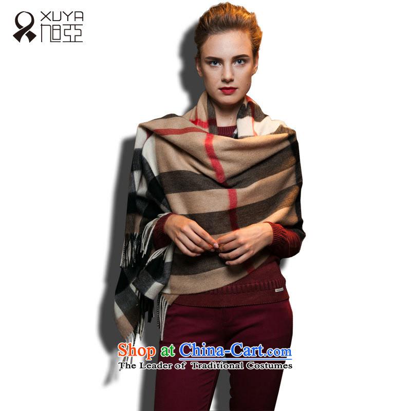 Ms. Ya woolen shawl grid wind autumn and winter Europe stylish warm, and Grid