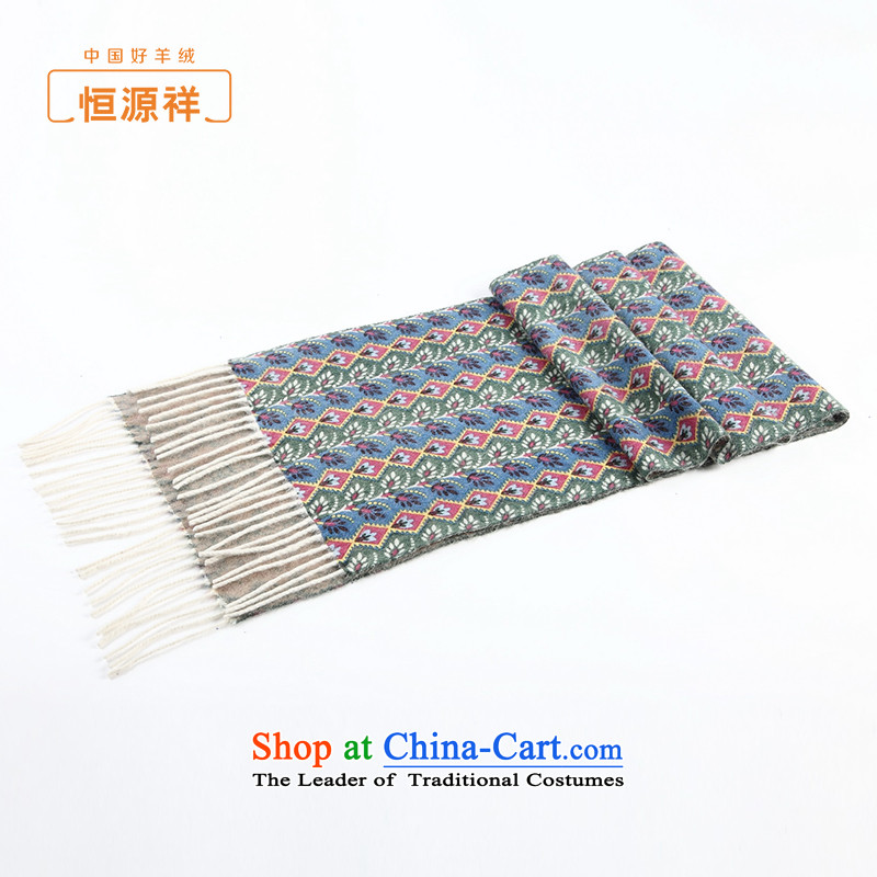 Hengyuan Cheung pashmina men and women of autumn and winter long stream Sioux nation-style of pure cashmere shawls scarves stamp duty green.