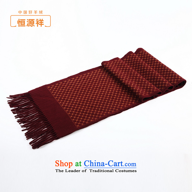 Hang Yuen Cheung-Cashmere scarf men of autumn and winter new product flow of commerce Caesars Grain Print pashmina shawl pure wine red stamp.