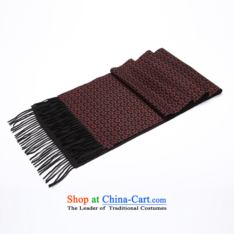 Hengyuan Cheung Man scarf of autumn and winter 2015 New Business geometry five-star pashmina shawl plain stamp thick red stamp.