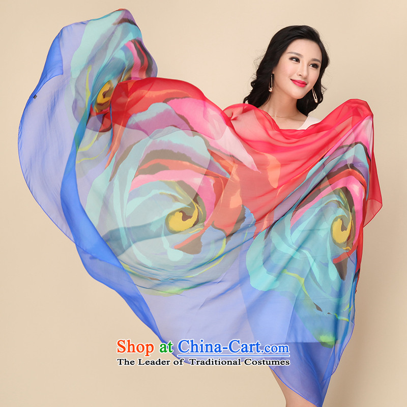 Shanghai Story silk scarf upscale silk scarfs wild herbs extract spring and autumn, silk scarves long shawl colorfully Sapphire Blue, Shanghai Story STORY IN SHANGHAI) , , , shopping on the Internet